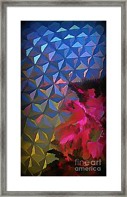 Epcot Centre Abstract Framed Print
