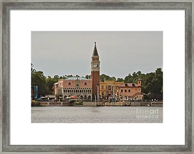 Epcot Italy Pavilion Framed Print