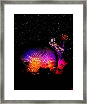 Epcot Night Framed Print by David Lee Thompson
