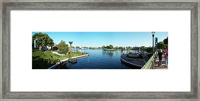 Epcot World Showcase Lagoon Panorama 05 Walt Disney World Framed Print by Thomas Woolworth