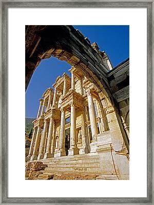 Ephesus Library 2 Framed Print by Dennis Cox WorldViews