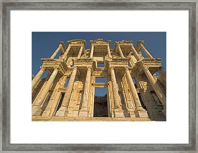 Ephesus Library 1 Framed Print by Dennis Cox WorldViews