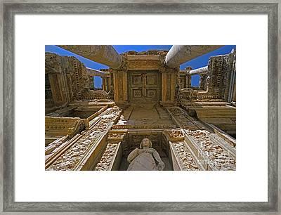 Ephesus Library Turkey Framed Print by Craig Lovell