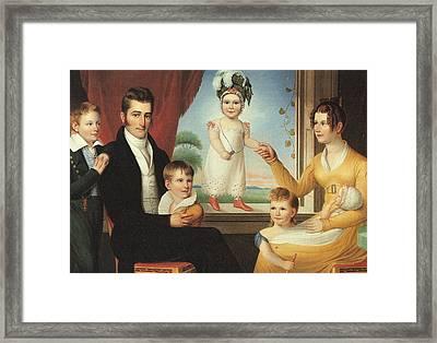 Ephraim Hubbard Family Framed Print by Ralph E Earl