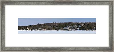 Ephraim In Winter, Lake Michigan, Door Framed Print by Panoramic Images