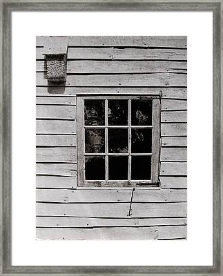 Framed Print featuring the photograph Ephrata Cloisters Window by Jacqueline M Lewis