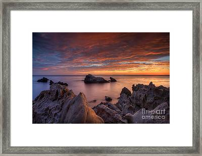 Epic California Sunset Framed Print by Marco Crupi