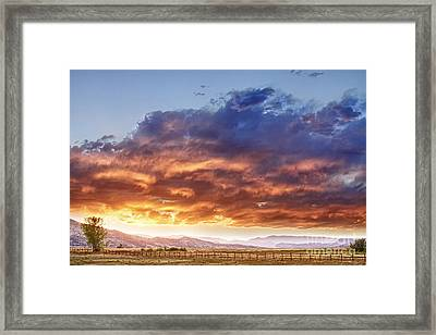 Epic Colorado Country Sunset Landscape Framed Print