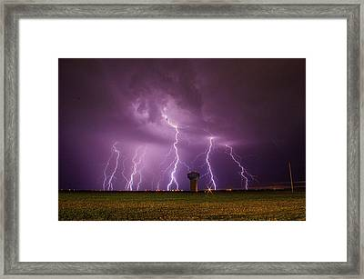 Epic Lightning Framed Print