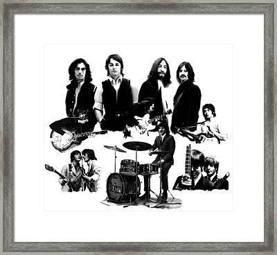 Epic The Beatles Framed Print by Iconic Images Art Gallery David Pucciarelli
