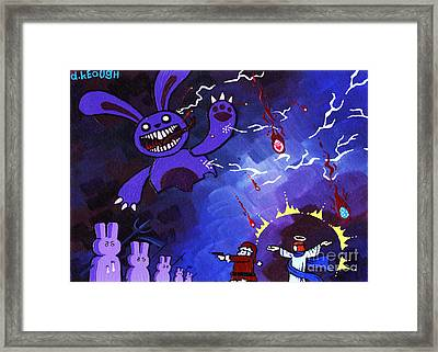 Epic Throwdown Greeting Card Size 5x7 Framed Print by Dan Keough