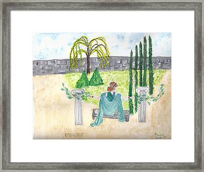 Framed Print featuring the photograph Epidaurus  by Deborah Moen