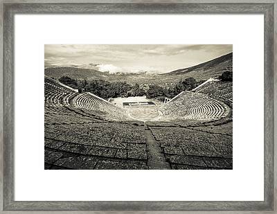 Epidavros Theatre Framed Print by David Waldo