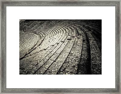 Epidavros Theatre Seats Framed Print
