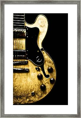 Epiphone Broadway Electric Guitar Framed Print by Bill Cannon