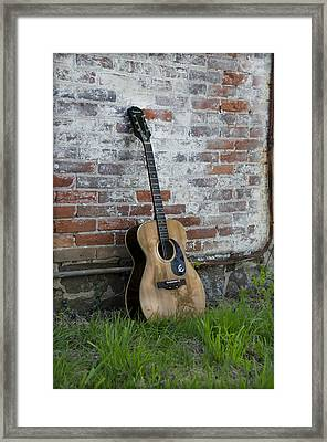 Epiphone Caballero Acoustic Guitar Framed Print by Bill Cannon