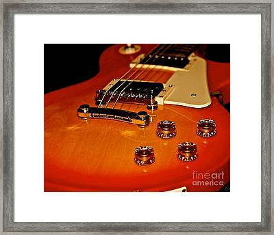 Epiphone Les Paul 100 Framed Print by Lisa  Telquist