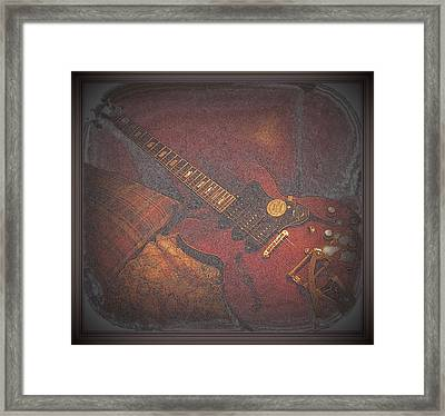 Epiphone Riveria Archtop Guitar Framed Print by Rosemarie E Seppala
