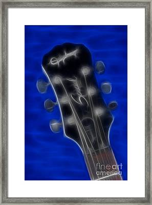 Epiphone Special II Les Paul-9674 Fractal Framed Print by Gary Gingrich Galleries