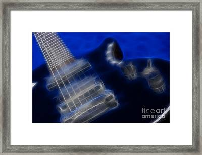 Epiphone Special Ll Les Paul-9729-fractal Framed Print by Gary Gingrich Galleries
