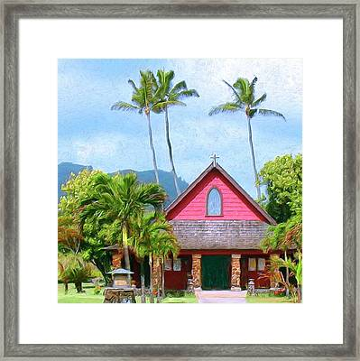 Episcopal Church In Kapaa Framed Print by Dominic Piperata