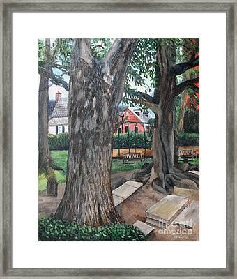 Episcopal Church Yard New Bern Framed Print