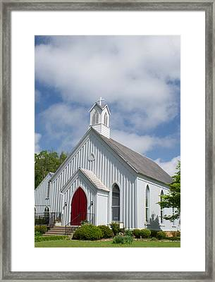 Episcopalian Church 1881 Framed Print