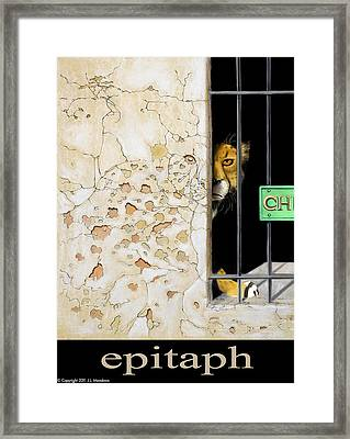 Framed Print featuring the mixed media Epitaph by J L Meadows