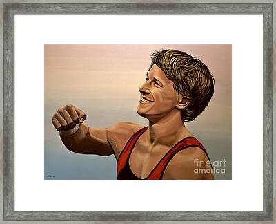 Epke Zonderland The Flying Dutchman Framed Print by Paul Meijering