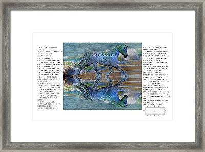 Epona Equine Dressage Test  Framed Print