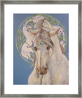 Epona The Great Mare Framed Print by Beth Clark-McDonal
