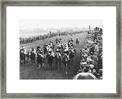 Epsom Derby Race Framed Print by Underwood Archives