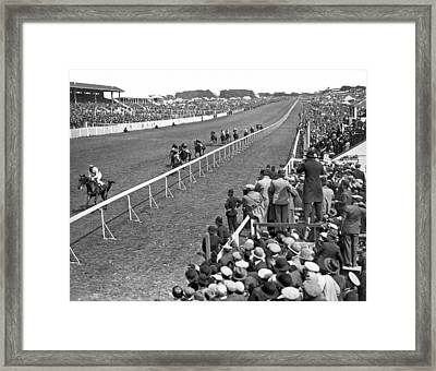 Epsom Derby Victory Framed Print by Underwood Archives