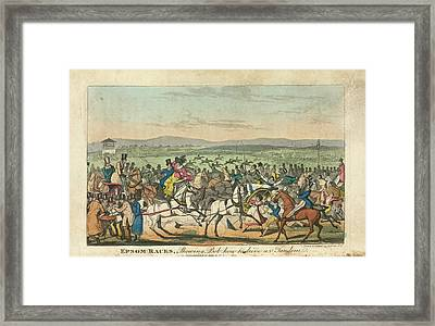 Epsom Races Framed Print by British Library