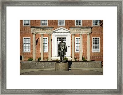 Equal Justice Under Law Framed Print by Susan Candelario