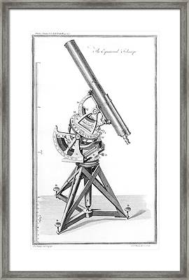 Equatorial Telescope Framed Print by Royal Astronomical Society