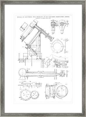 Equatorial Twin Telescope Framed Print by Royal Astronomical Society