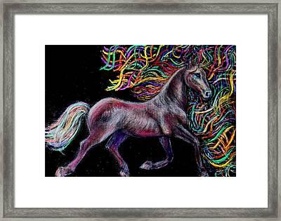 Equestrian Canter Framed Print by Elizabeth Clausen