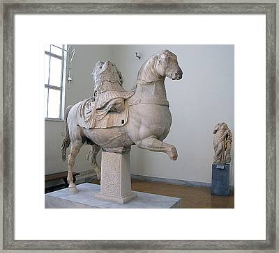 Equestrian Officer Framed Print by Andonis Katanos
