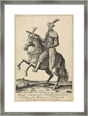 Equestrian Portrait Of Imre Thököly, Pieter Stevens Framed Print