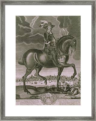 Equestrian Portrait Of Oliver Cromwell  Framed Print by Albert Haelwegh