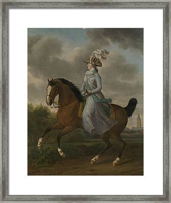 Equestrian Portrait Of Wilhelmina Of Prussia Framed Print