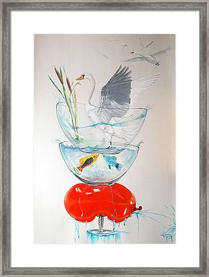 Framed Print featuring the painting Equilibrium by Lazaro Hurtado