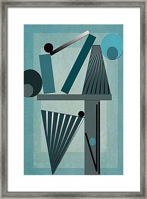 Equilibrium Framed Print by Linda Dunn