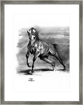 Framed Print featuring the drawing Equine IIi by Paul Davenport