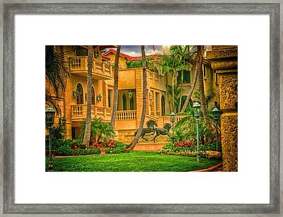 Framed Print featuring the photograph Equine Villa  by Dennis Baswell