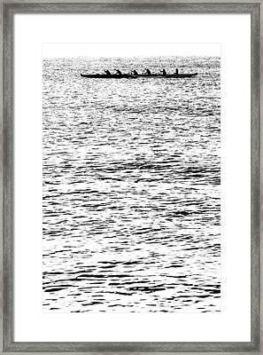 Equinox Paddlers Framed Print by Sean Davey