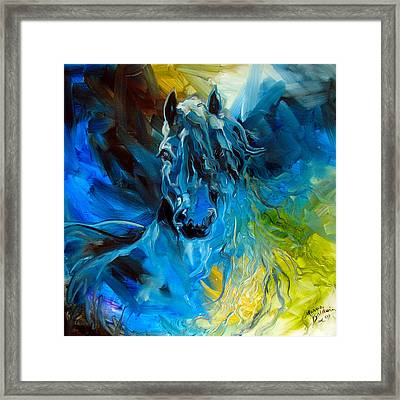 Equus Blue Ghost Framed Print by Marcia Baldwin