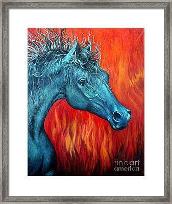 Equus Diabolus Diablo Framed Print by Joey Nash