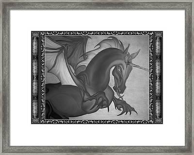 Equus Draco Unicornis Framed Print
